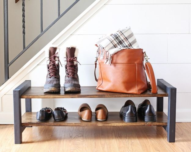 15 Awesome DIY Shoe Rack Designs Your Foyer Needs