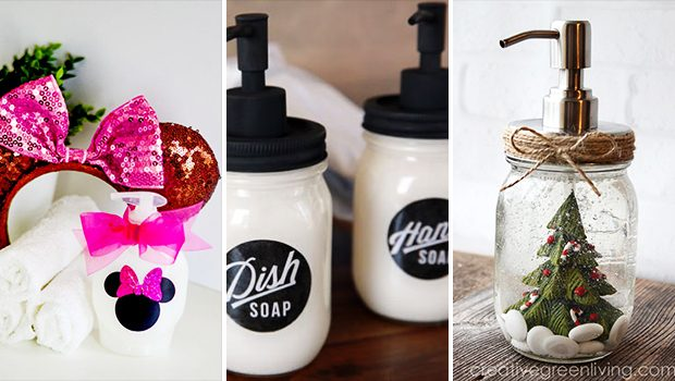 15 Awesome DIY Soap Dispenser Crafts You'd Love To Make