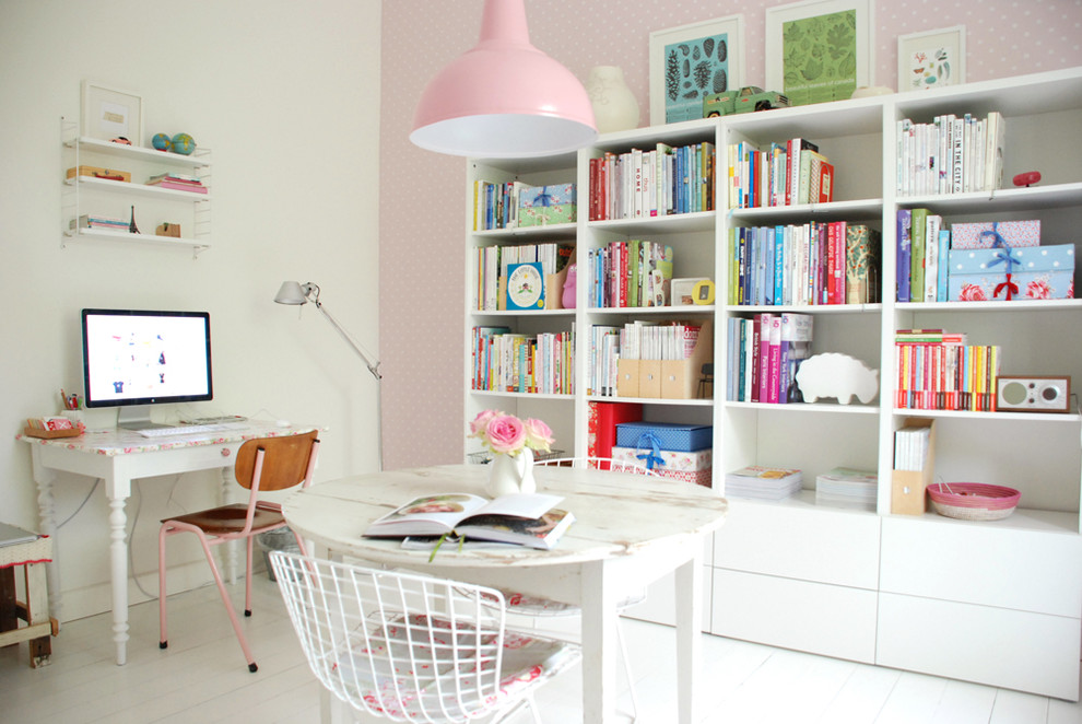 15 Interesting Shabby Chic Home Office Interiors With Unique Looks