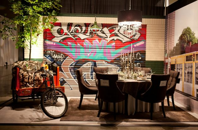 Graffiti In The Interior - 17 Astonishing Ideas For Your Inspiration