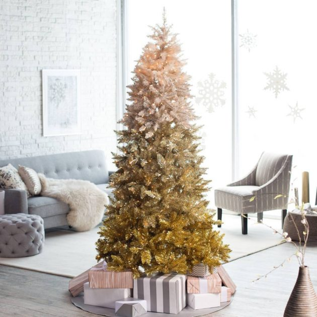 10 Last Minute Ombre Christmas Trees For Your Inspiration