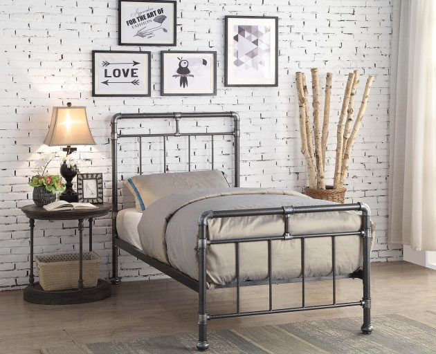 15 Cozy Metal Bed Designs To Help You In Your Choice