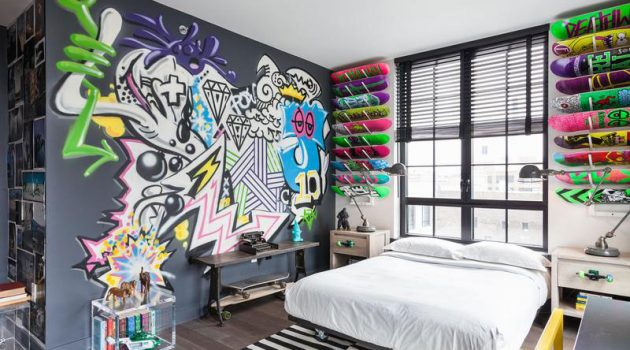 Graffiti In The Interior – 17 Astonishing Ideas For Your Inspiration