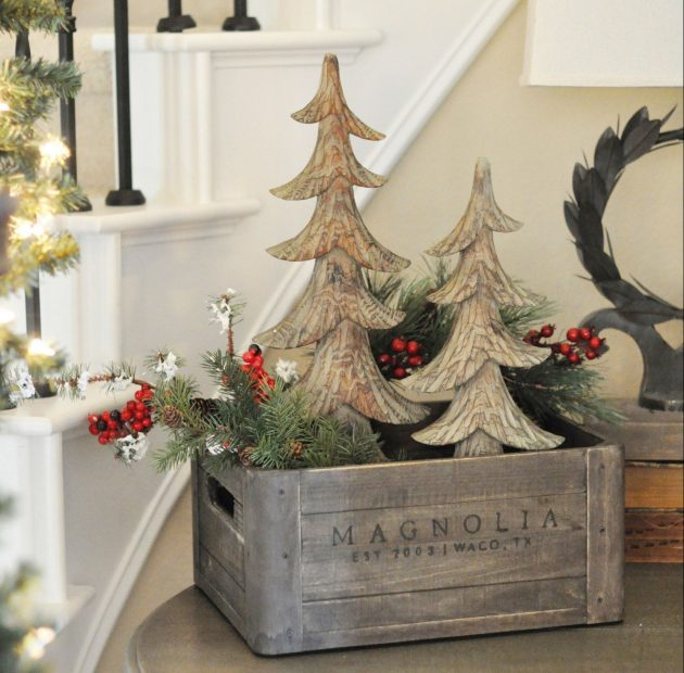Rustic Christmas Decor.18 Last Minute Rustic Christmas Decorations That Are Worth