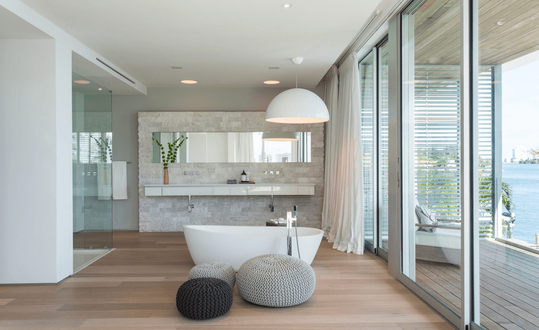 White Wood The Best Combination For Perfect Bathroom