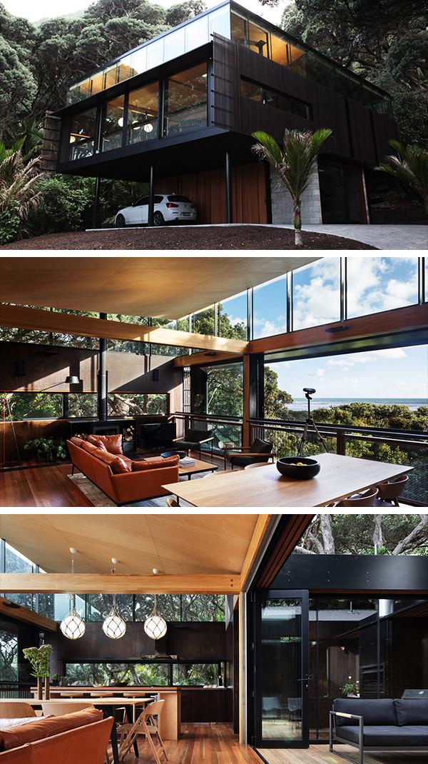 Kawakawa House by Herbst Architects in Piha, New Zealand