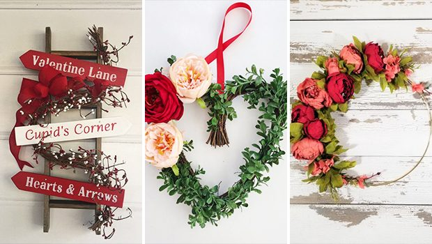 15 Enchanting Handmade Valentine's Day Wreath Designs You'll Love
