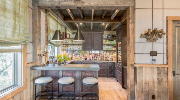 16 Ravishing Farmhouse Home Bar Interiors You Must See