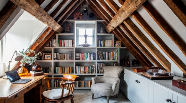 16 Tremendous Farmhouse Home Office Interiors You're Gonna Love To Work In