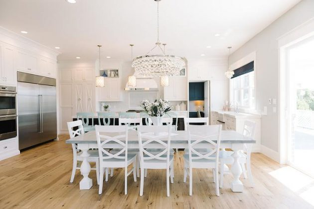 White Chandelier In The Dining Room 12 Extravagant Ideas