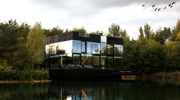 Glass Villa by Mecanoo in Lechlade, United Kingdom