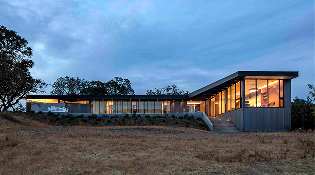Lichen House by Schwartz and Architecture in Glen Ellen, California