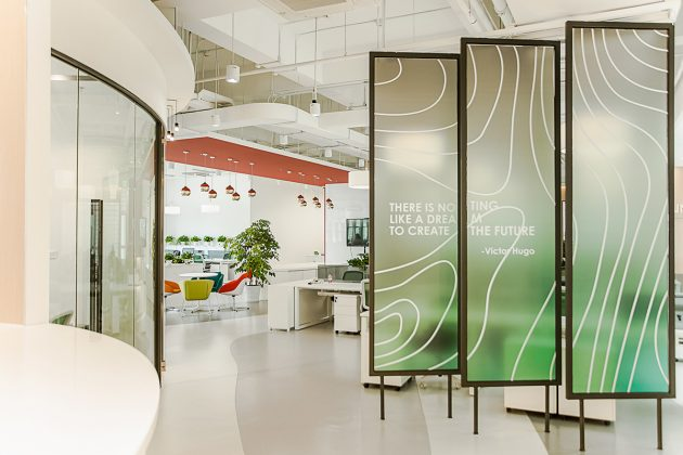 Office space design - Flowing melody Interior design of Shanghai KUNCHI office