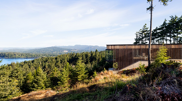 Okada Marshall House by D'Arcy Jones Architects in Sooke on Vancouver Island
