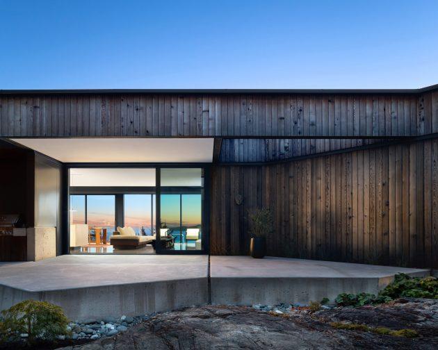 Okada Marshall House by D'Arcy Jones Architects in Sooke on Vancouver Island