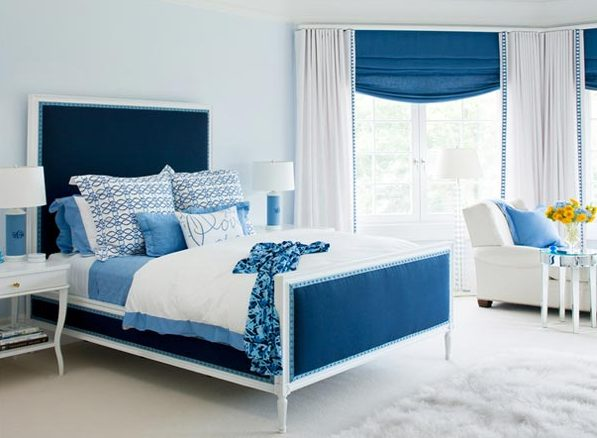 16 Fascinating Ideas For Blue Stress-Free Bedroom