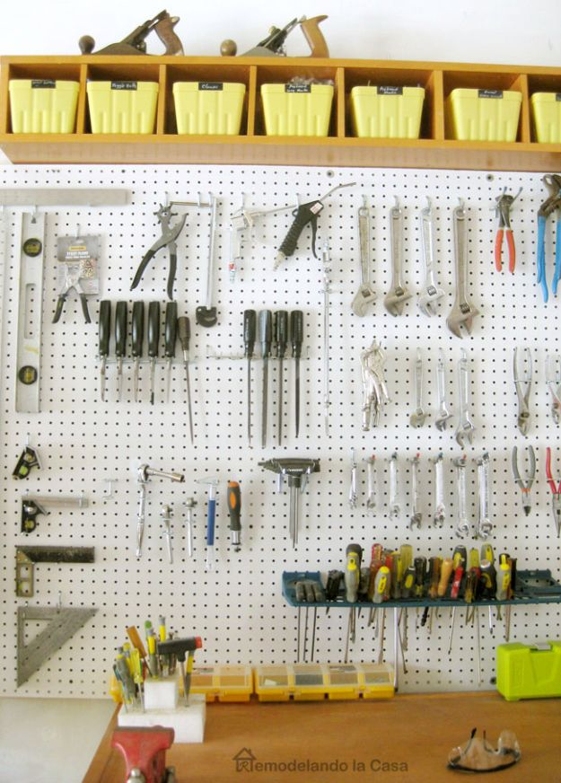 15 Clever DIY Ideas That Will Help You Organize Your Garage