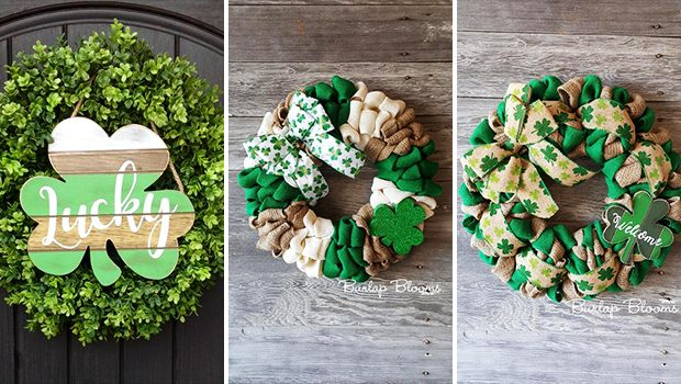 18 Stunning Handmade St. Patrick's Day Wreath Designs That Bring You Luck