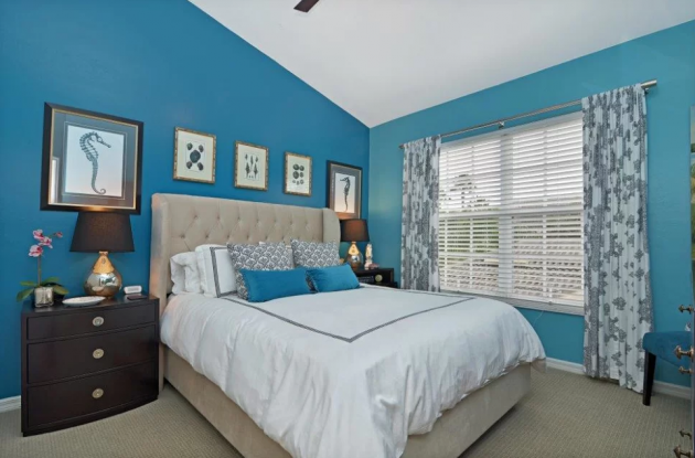 marvelous blue sky bedroom country styl | 16 Fascinating Ideas For Blue Stress-Free Bedroom