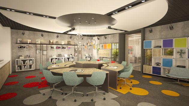 An Office Design Focusing on Employee Motivation: IMAK Ofset Management Office