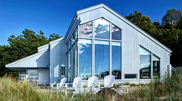 Contemporary Home on a Lake Michigan Critical Dune by Lakeshore Custom Homes