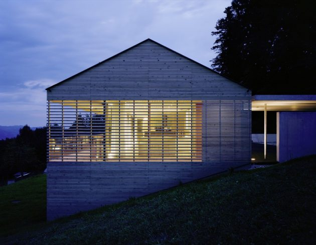 House A by Dietrich Untertrifaller Architekten in Dornbirn, Austria