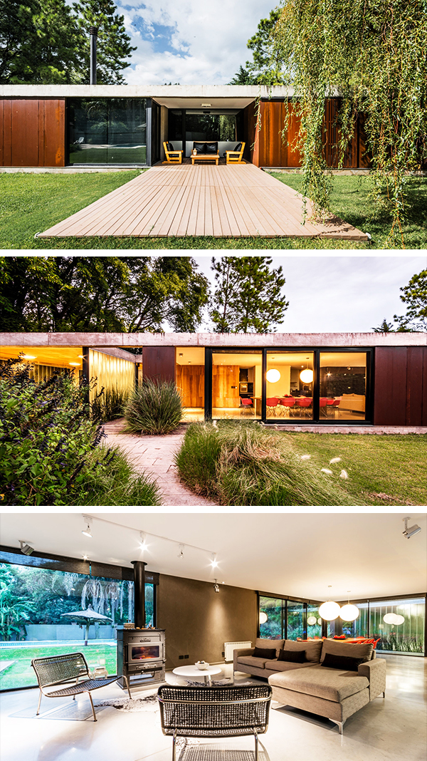 Linear House by Roberto Benito in Cordoba, Argentina