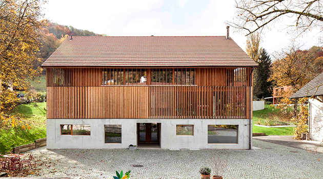 Mill Barn Conversion by Beck + Oser Architekten in Switzerland