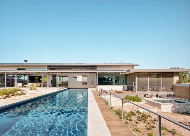 River Ranch by Jobe Corral Architects in Hill Country, Texas