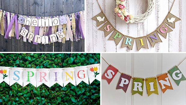 15 Beautiful Handmade Spring Banner Designs Your Decor Needs