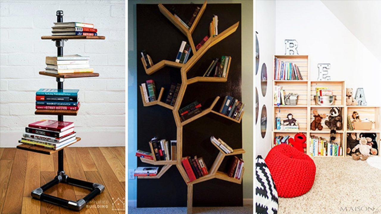 20 Charming DIY Bookshelf Ideas You'd Love To Craft