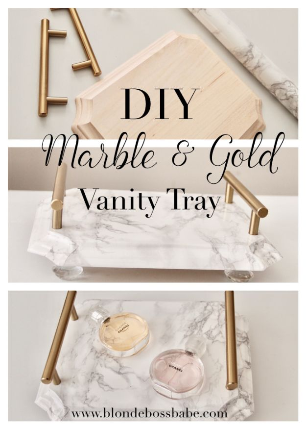 15 Charming DIY Vanity Tray Ideas Youd Love To Craft Right Away