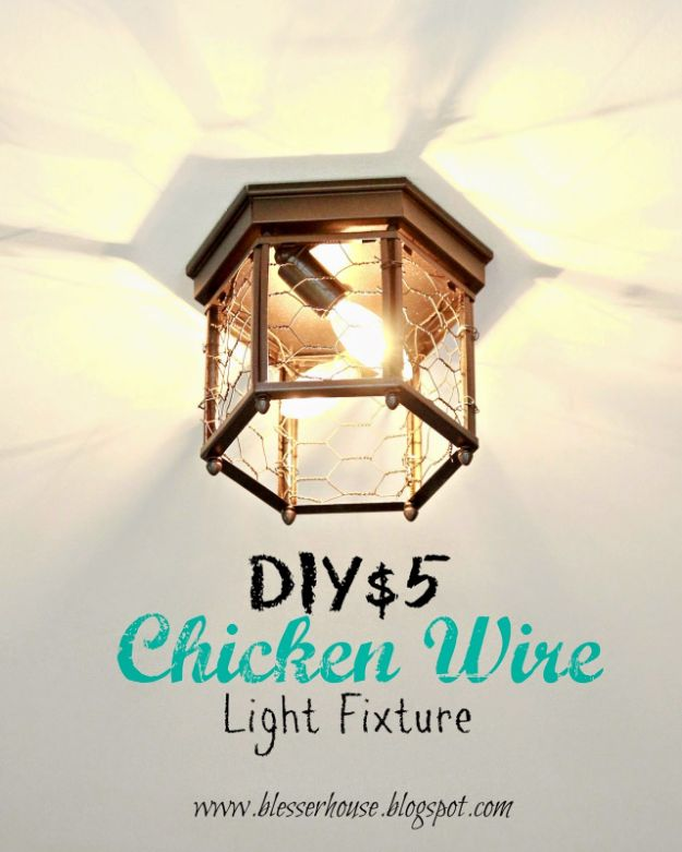 16 Great DIY Light Fixtures That You Can Create In Just A Few Hours