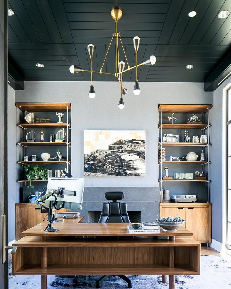 16 Inspiring Mid-Century Modern Home Office Designs That