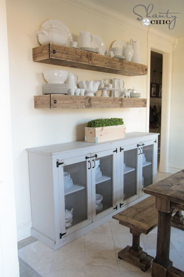 16 Stylish & Practical DIY Sideboard Projects You're Going To Want To Craft