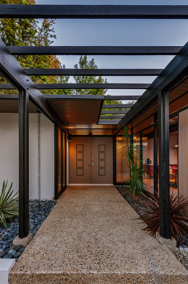 20 Staggering Mid Century Modern Entrance Designs You Can