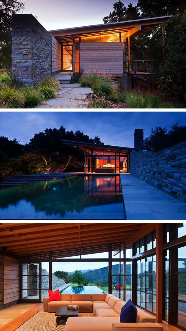 Halls Ridge Knoll Guest House by Bohlin Cywinski Jackson in Carmel by the Sea, California
