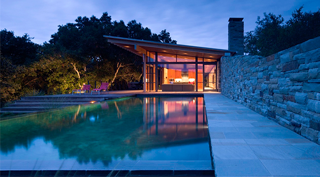 Halls Ridge Knoll Guest House by Bohlin Cywinski Jackson in Carmel-by-the-Sea, California