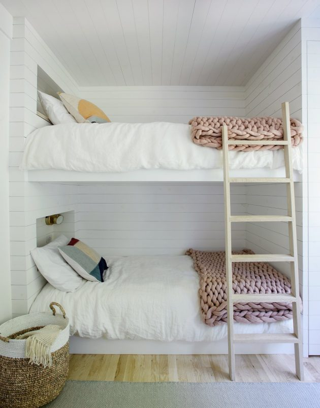 A Hamptons Beach Retreat gets a Scandinavian Style Interior Makeover
