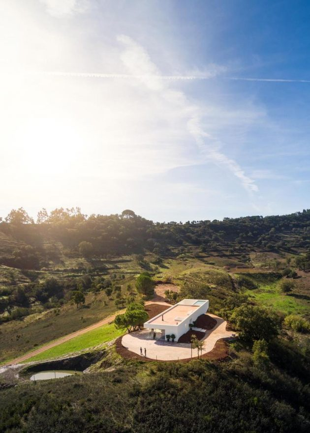 House in Messines by Vitor Vilhena Architects in Portugal