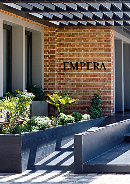 Inspired by The Red Soil Found in The Region: EMPERA HEADQUARTERS