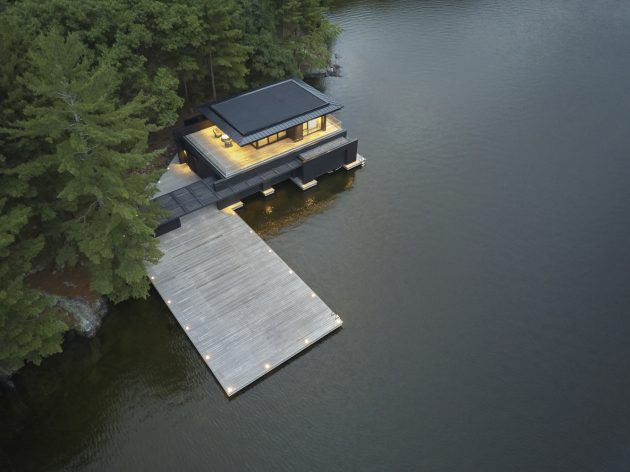 Muskoka Boathouse by Akb Architects in Ontario, Canada