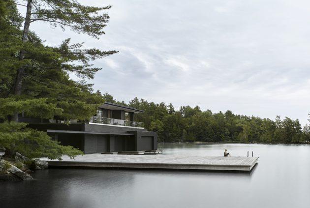 Muskoka Boathouse by Akb Architects in Ontario, Canada