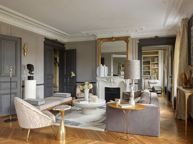 The Romantic and Contemporary Parisian Apartment of your dreams by Anne Sophie Pailleret