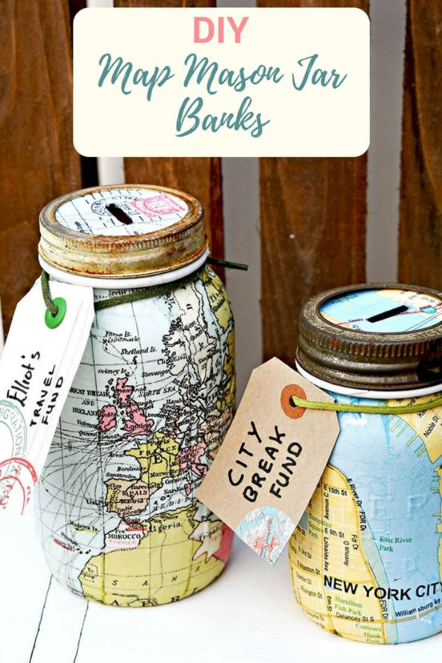 15 Amazing DIY Home Decor Projects You Can Make With Maps