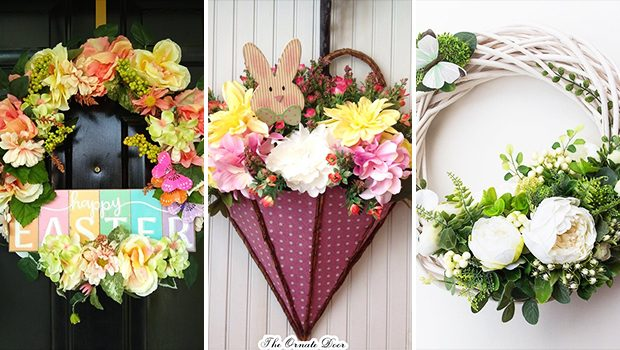 15 Beautiful Handmade Floral Easter Wreath Designs Perfect For Spring