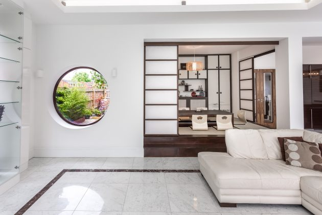 Private house with with a traditional Japanese tea ceremony room in London