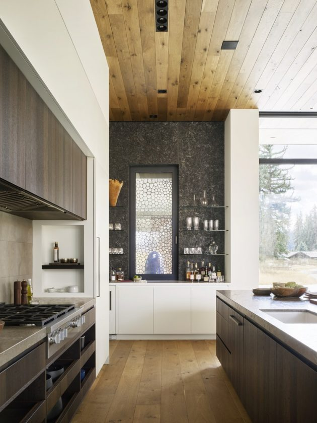 Queens Lane Pavilion by Carney Logan Burke Architects in Jackson, Wyoming