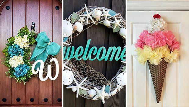 15 Colorful Handmade Summer Wreath Designs Your Front Door Will Need