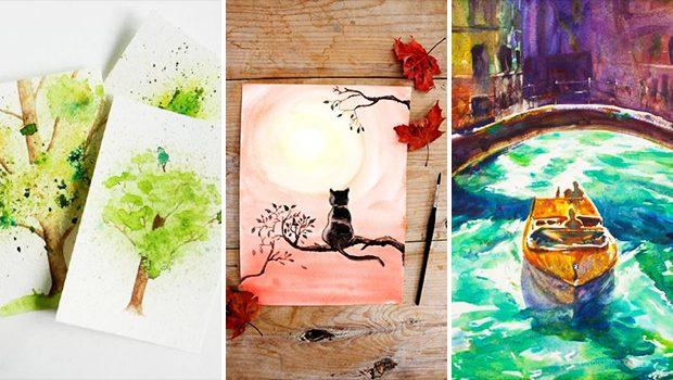 15 Creative DIY Watercolor Art Tutorials To Spice Up Your Walls